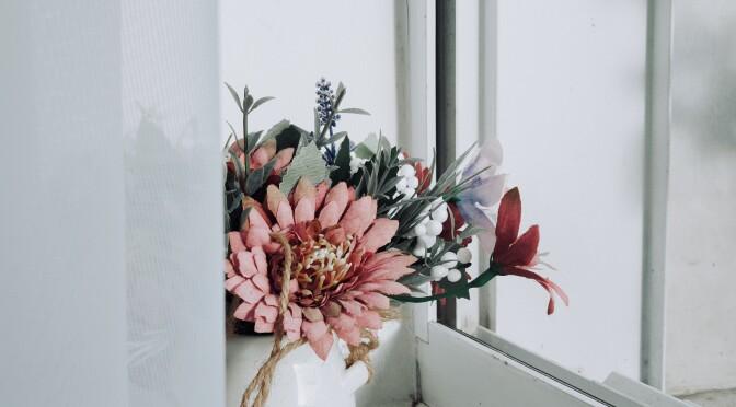 Zijden bloemboeket